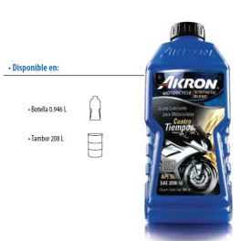 AKRON MOTORCYCLE SYNTHETIC BLEND 4 TIEMPOS